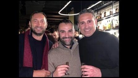 Iuliano, Choutos e Amoruso insieme in un ristorante a Milano