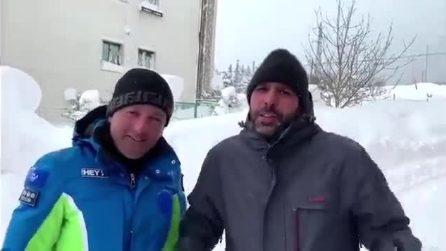 """Checco Zalone bloccato dalla neve a Roccaraso, il siparietto col sindaco: """"Non verrò mai più"""""""