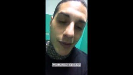 "Francesco Chiofalo prima dell'intervento: ""Non ho mai avuto tanta paura"""