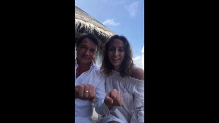 """Benedetta Parodi e Fabio Caressa si risposano alle Maldive: """"Siamo felici ed emozionati"""""""