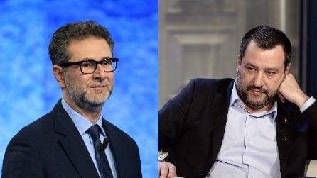 """Matteo Salvini su Fabio Fazio: """"Guadagna in un mese quanto io guadagno in un anno"""""""