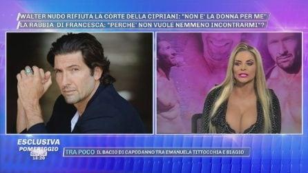 """Pomeriggio Cinque, Francesca Cipriani furiosa: """"Walter Nudo è cafone e maleducato"""""""