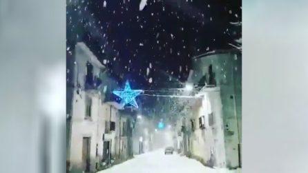 La neve arriva in Calabria: fiocchi copiosi anche a bassa quota