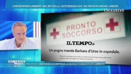 La Dottoressa Giò, L'incidente sul set a Barbara D'Urso