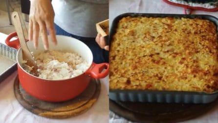 Sformato di riso con besciamella e prosciutto: la ricetta da leccarsi i baffi