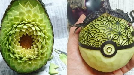 "He turns fruits and vegetables into works of art: here are Gaku's extraordinary ""food sculptures"""