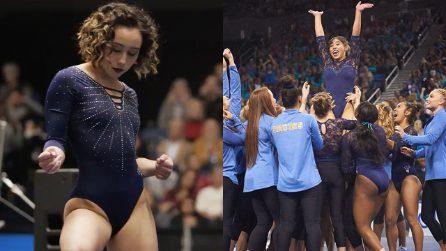L'esibizione da 10 di Katelyn Ohashi, la ginnasta americana criticata perché troppo grassa