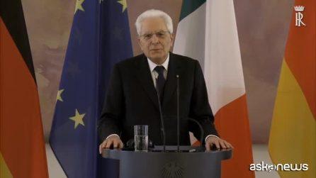 """Mattarella in Germania: """"Dialogo chiave per la convivenza nell'Ue"""""""