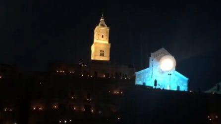 I Sassi di Matera si illuminano: lo scenario incantevole