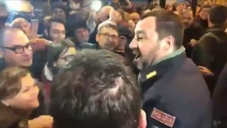 """Afragola, un uomo urla a Salvini: """"Elimina Saviano"""". La reazione del Ministro dell'Interno"""