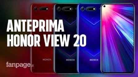 Tutto quello che devi sapere sul nuovo Honor View 20, display con il buco, fotocamera da 48 mpx e AI