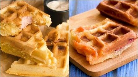 Ecco come cucinare i waffle in versione salata!