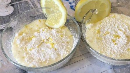 Crema limone e cocco: per farla vi basterà una bottiglia
