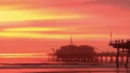 Un tramonto da togliere il fiato: il cielo si tinge di rosso