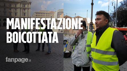 Gilet Gialli la manifestazione a Roma è un flop: si presentano solo in due