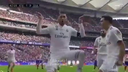 Sergio Ramos segna e prende in giro Griezmann