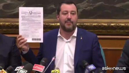 Diciotti, Salvini: no al processo, decisione d'interesse pubblico