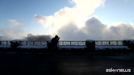 Lo spettacolo delle Cascate del Niagara ghiacciate