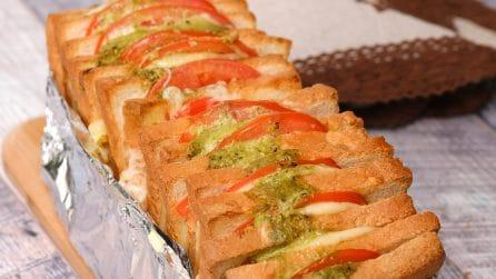 Stuffed sandwich bread: transform a loaf of bread in something special!