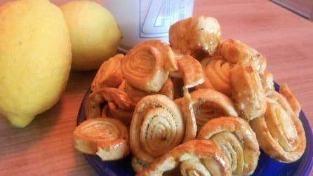 Girelle dolci al limone: veloci, golose e profumate
