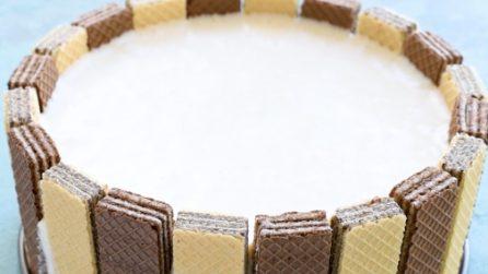 Torta wafers: l'idea perfetta per stupire con un dolce goloso e facile!