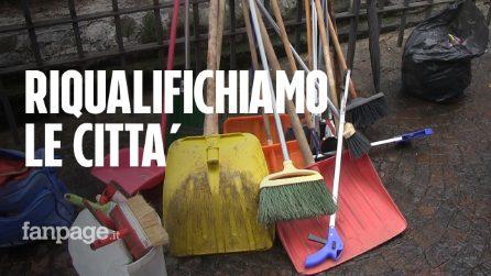 """Napoli, i volontari ripuliscono le piazze: """"Miglioriamo la qualità della vita"""""""