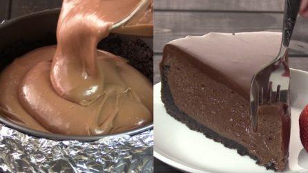 Cheesecake al cioccolato super cremosa: la semplice ricetta