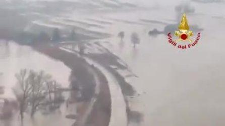 Esondazione del fiume Reno: dall'alto le immagini dei paesi coperti dall'acqua