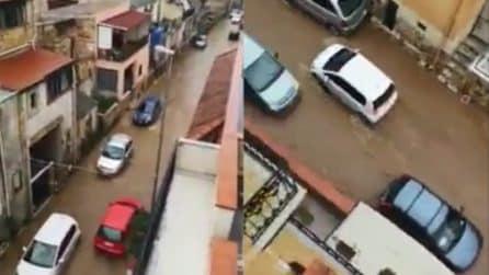 Maltempo Sicilia, le strade completamente allagate nel palermitano