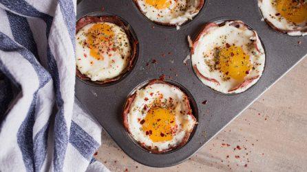 Cestini di salame e uova: facili e veloci da preparare!