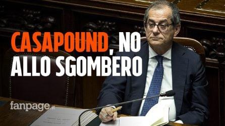 Sgombero CasaPound, arriva al sindaco di Roma il no del ministro Tria