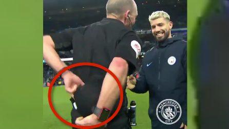 Manchester City-Chelsea, l'arbitro fa uno scherzo ad Aguero