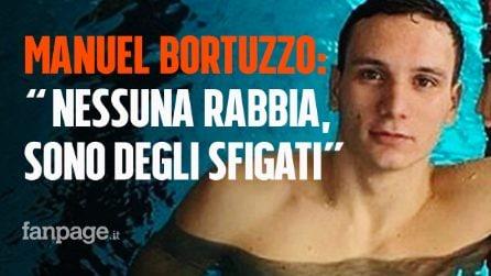 """Manuel Bortuzzo dall'ospedale: """"Non provo rabbia, sono degli sfigati. Mi ispiro a Bebe Vio"""""""
