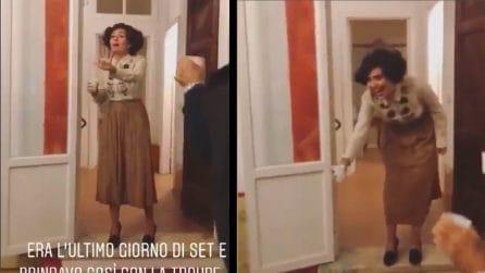 """Serena Rossi in """"Io sono Mia"""": la scenetta nell'ultimo giorno di riprese"""