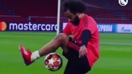 Il nuvo spettacolare modo di palleggiare di Marcelo