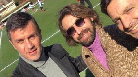 """""""Bentornati ragazzi"""", Maldini accoglie Pirlo, Ambrosini e Oddo a Milanello"""