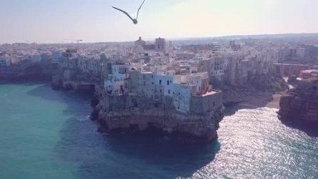 In volo su Polignano a Mare: lo spettacolo incredibile