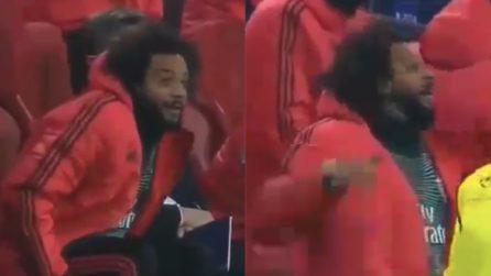 È il momento del Var: la reazione di Marcelo per il responso
