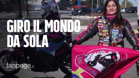 Yaneth, la biker colombiana che gira il mondo da sola contro la violenza sulle donne