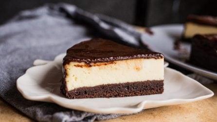 Cheesecake brownie al cioccolato fondente: due gusti in un solo dolce!