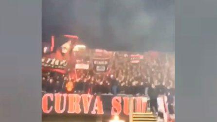 Tifosi del Milan pazzi di Piatek: il nuovo coro dedicato all'attaccante