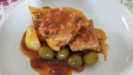 Baccalà alla calabrese con olive e pomodoro: un piatto pieno di sapore