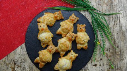 Orsacchiotti di pasta sfoglia: l'idea simpatica e divertente!