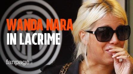 """Wanda Nara in lacrime: """"L'Inter è la nostra famiglia, non vogliamo andare via"""""""