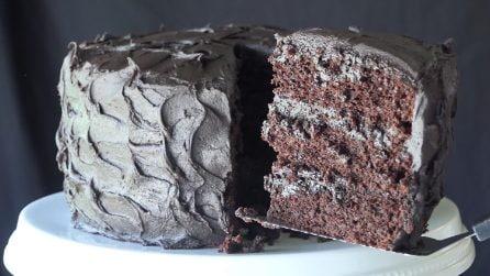 Torta al cioccolato: tre strati di pura dolcezza
