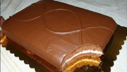 Torta al cacao con crema alla vaniglia: la ricetta irresistibile