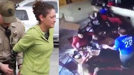 Donna arrestata dalla polizia: le telecamere mostrano quello che combina