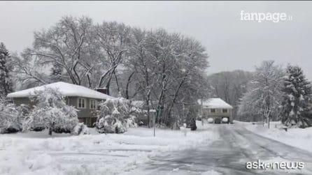 Boston sotto la neve: uno scenario da favola