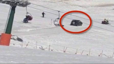 92 enne fa irruzione con l'auto sulle piste da sci: era alla ricerca di un ristorante