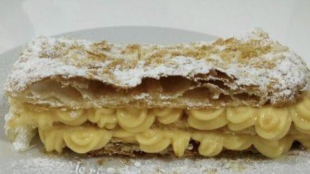 Millefoglie con crema pasticcera: un dessert pronto in pochi minuti e buonissimo
